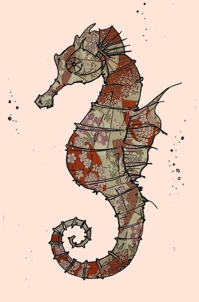 73 best Seahorses illu...