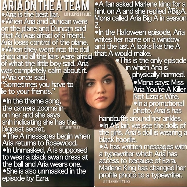 is Aria part of the A team?...