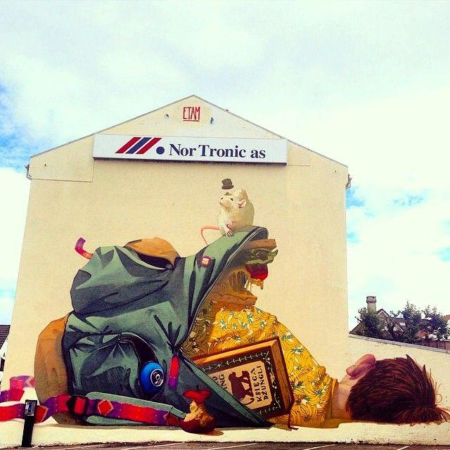 Etam Cru New Mural For Nuart 2014 - Stavanger, Norway StreetArtNews
