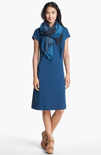 Eileen Fisher Drape Neck Jersey Dress | Nordstrom