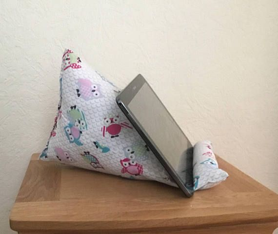 Owl tablet stand  iPad cushion owl iPad stand kindle stand