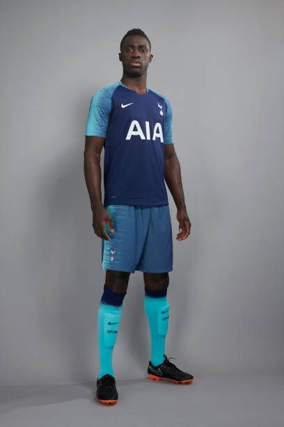 0071a610bc7 Davinson Sanchez poses during the Tottenham Hotspur 2018/19 Kit Launch on  May 11 2018