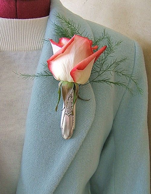 Lapel Vase  Tussy Mussy upcycled from Antique by thefashionedge, $8.00