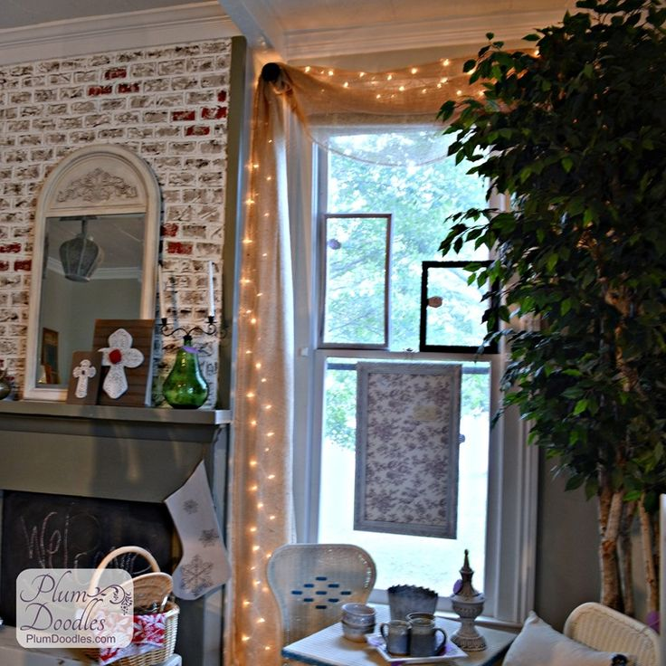 Best 25+ Burlap Window Treatments Ideas On Pinterest