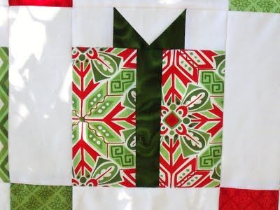 Christmas Present Quilt Block Tutorial