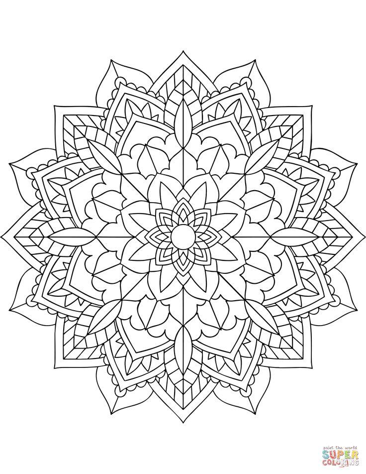 blomster mandala tegninger | mandala drawing, zentangle