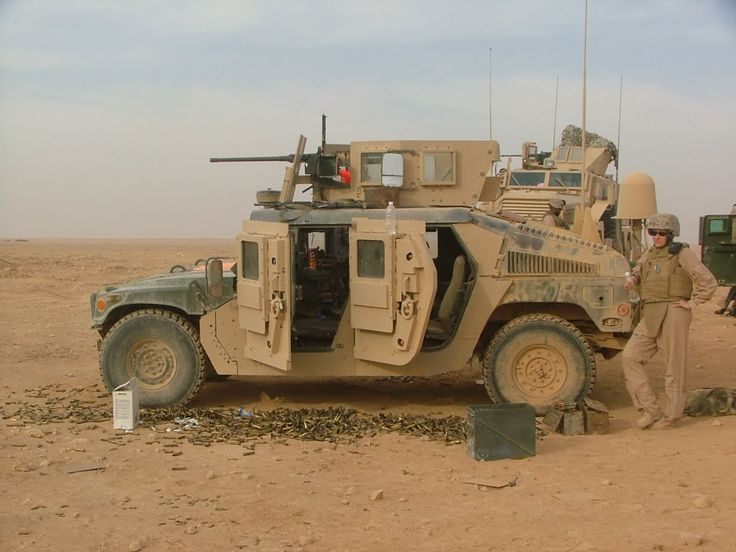 U.S. Army M1114 Up-Armored HMMWV with M2
