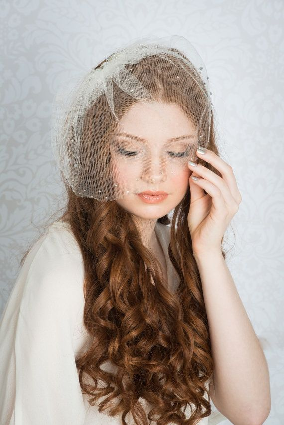 VERONICA Silk Tulle Blusher Veil Blusher by BlairNadeauMillinery, $165.00