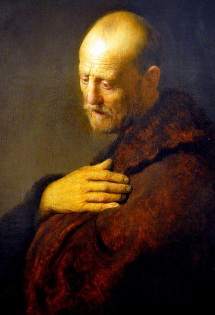 Rembrandt van Rijn - Old Man in Prayer