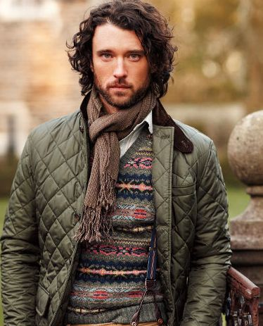 quilted jacket men fashion style for fall & winter.