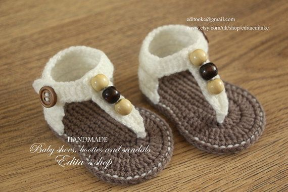 Crochet baby sandals baby gladiator sandals baby by editaedituke