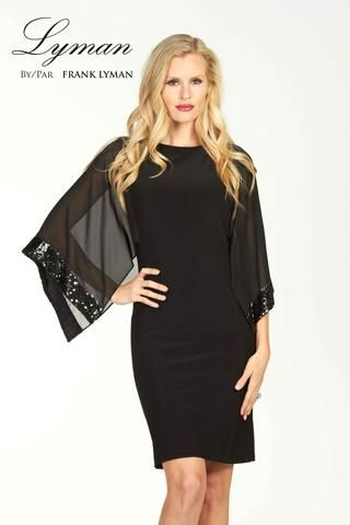 Lyman 2017. 50% off. Little black dress with bat sleeves. Proudly Made in Canada.