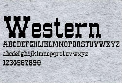 35 Free Western Fonts Need A Cowboy Font Splash