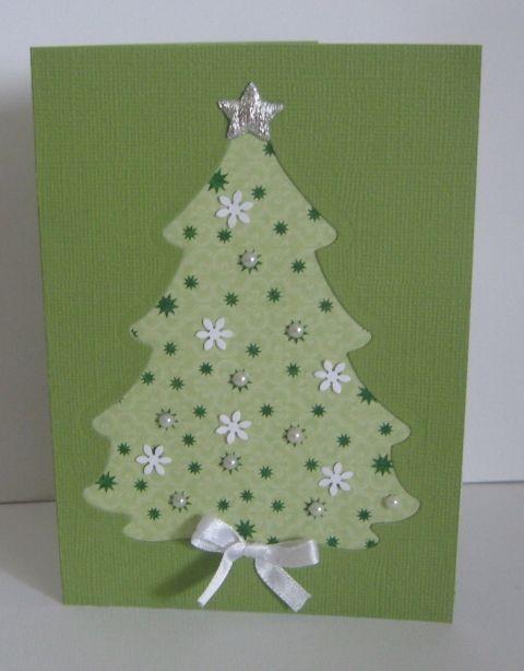 Karácsonyi képeslap (pénzátadó) - fenyőfával - be..., Mi..., meska.hu