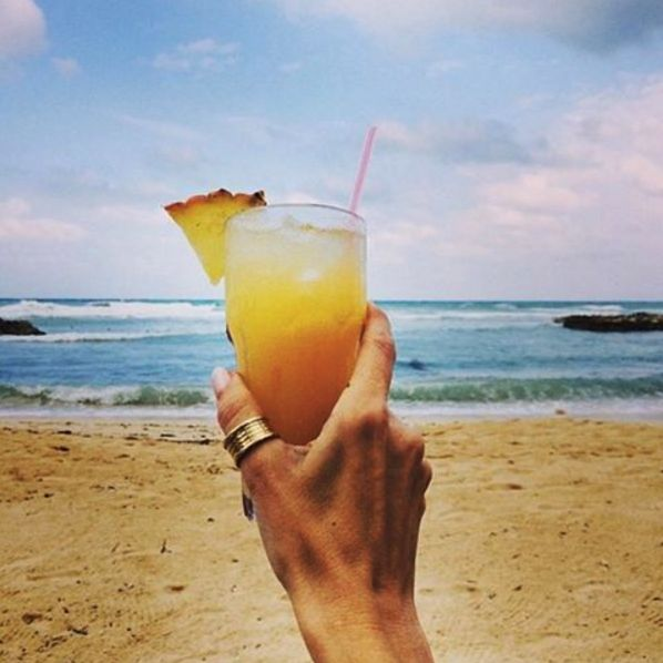Vacation the right way! Enjoy a tropical drink on one of the beautiful beaches at Rose Hall.