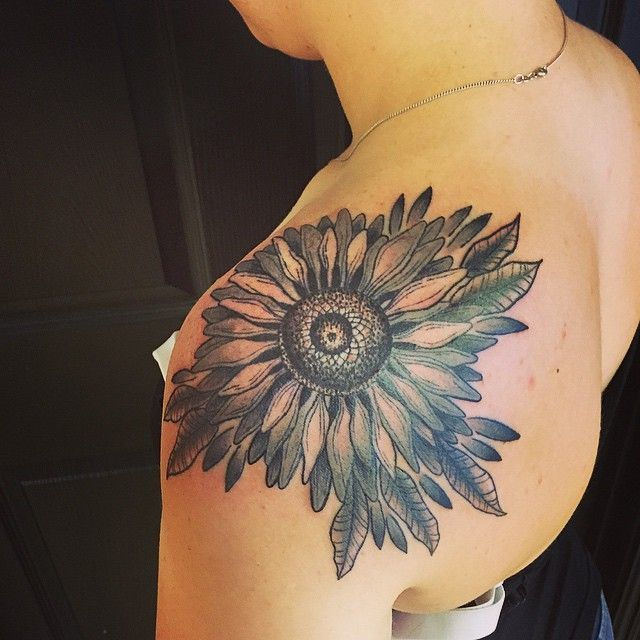 Sunflower Tattoo Ideas With Bright Meanings From TattoosWin.com