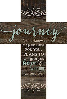 Journey-Jeremiah-2911-Rustic-Dark-14-x-10-Wood-Wall-Art-Cross-Plaque-0