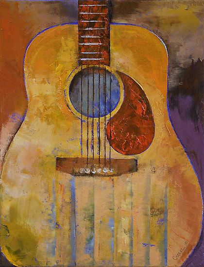 17 Best Images About Guitars Acrylic Paintings On