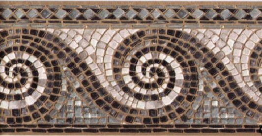 877441 Textured Wave Mosaic Gold Silver Black Wallpaper