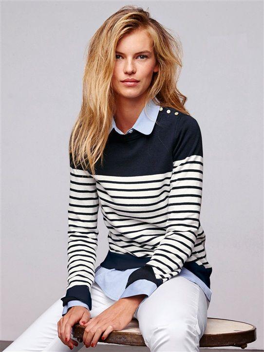 Bien-aimé Les 25 meilleures idées de la catégorie Pull marin femme sur  WV02
