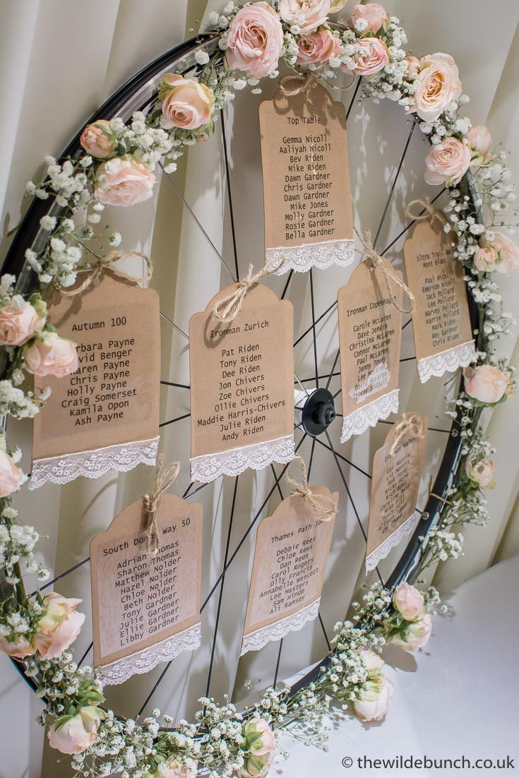 Here's a Wilde Bunch table plan design for all you 'Mountain-Biking', 'Road Racing', 'Iron-man' fanatics out there. Why not incorporate your favourite pastimes into your wedding theme. When The Wilde Bunch 'style' your wedding anything is possible!! #fastweddingplanning