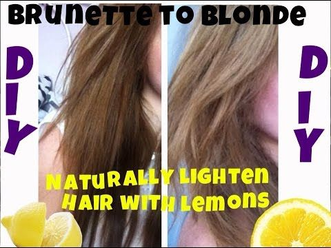 How To Dye Hair Naturally With Lemons
