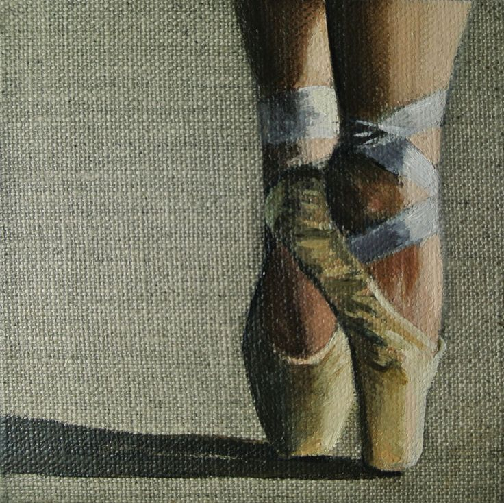 #Ballet Shoes #Ballerina #Painting, #Miniature, Framed Ready to Hang Original by AJ #Impressionist