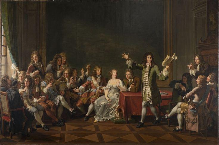Molière Reading Tartuffe at Ninon de Lenclos's by Monsiau