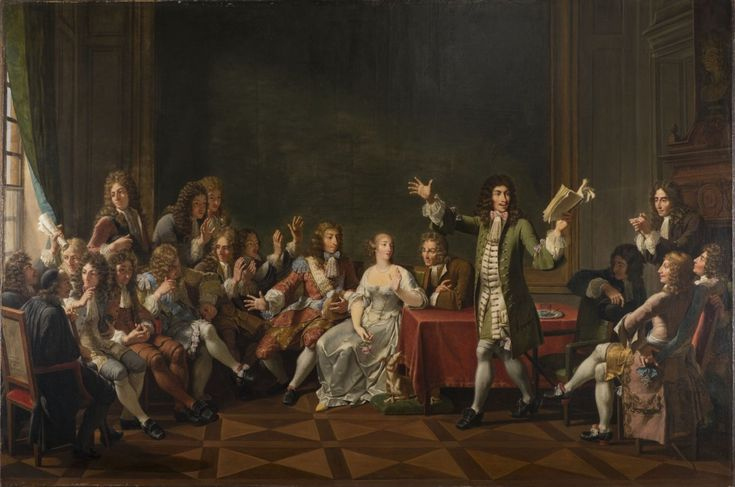 Molière Reading Tartuffe at Ninon de Lenclos's by Monsiau