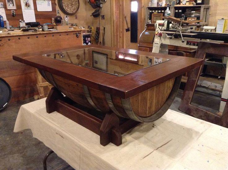 Todd Swan Custom Woodworking WINE BARREL COFFEE TABLE Wine barrel