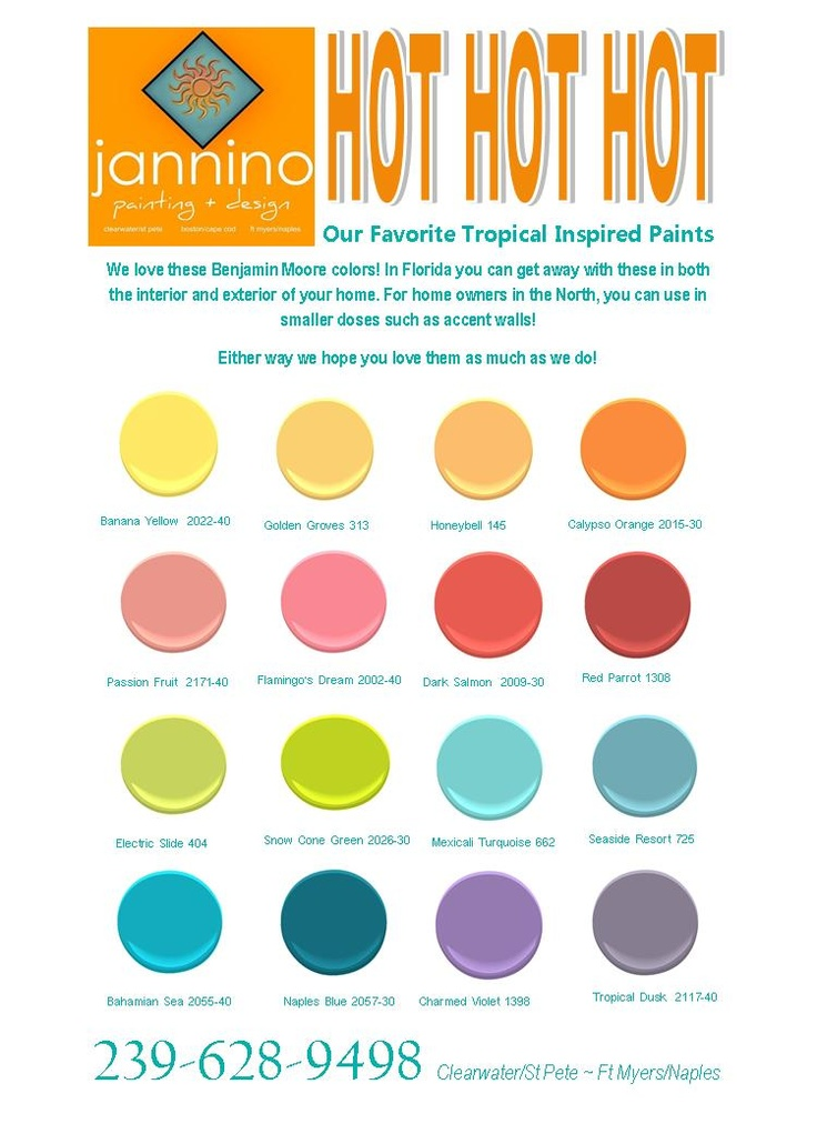 58 Best Tropical Benjamin Moore Colors Images On Pinterest