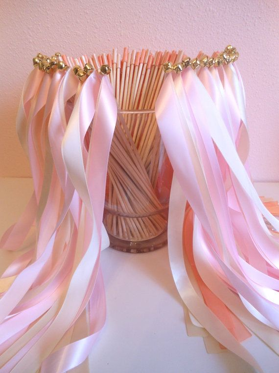 Wedding ribbon wands set of 75 double by BellaBrideCreations, $92.00
