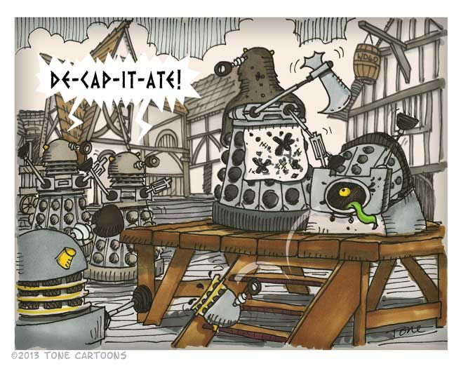 Medieval Daleks from The Daily Dalek -Tone Cartoons
