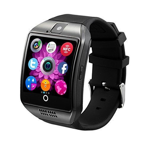 Smart Watch Cell Phone Smartphone Android iPhone SD 32Gb Slot Black Graphite #SmartWatch