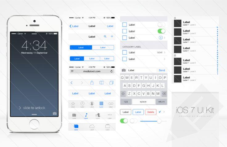 Free iOS 7 UI Kit : Image 1