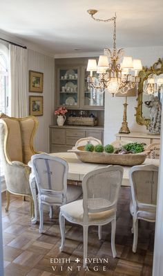Dining Room Renovation In A 1970's French Country Ranch