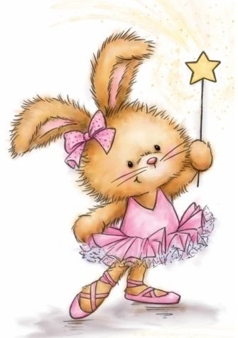 Wild Rose Studio BUNNY BALLERINA Clear Stamp Set CL501 Preview Image