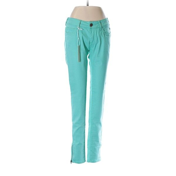 Romeo & Juliet Couture  Jeans (€30) ❤ liked on Polyvore featuring jeans, teal, teal jeans and blue jeans
