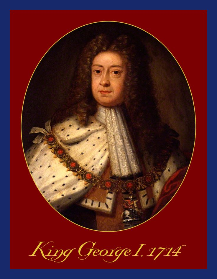 KING GEORGE I OF ENGLAND & HANNOVER c.1714, the year of his accession, as painted by Sir Godfrey Kneller. During George's reign, the powers of the monarchy diminished and Britain began a transition to the modern system of cabinet government led by a prime minister. Towards the end of his reign, actual power was held by Sir Robert Walpole, now recognised as Britain's first de facto prime minister.