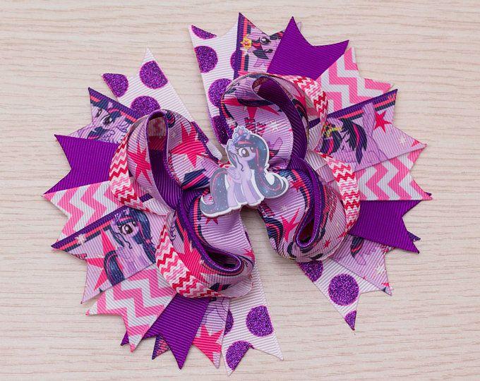Princesa Twilight Sparkle arco del pelo - el pelo de mi pequeño Pony arco - My Little Pony cumpleaños - púrpura arco - My Little Pony Party - Twilight Vestido