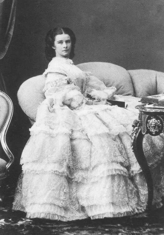 "Empress of Austria. Unlike other women of her time, Elisabeth used little cosmetics or perfume, as she wished to showcase her ""natural"" beauty, but she tested countless beauty products prepared in the court pharmacy, or prepared by a lady-in-waiting in her own apartments, to preserve it.  Elisabeth slept without a pillow on a metal bedstead, all the better to retain her upright posture, with either raw veal or crushed strawberries lining her nightly leather facial mask."