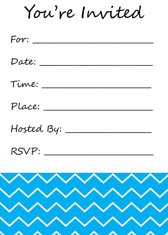 Massif image within blank printable invitations