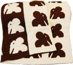 Ellie - blanket Kinder/babydeken 100% wol bruin (Bellio - Sweden) te koop bij www.goedvantoen.nl