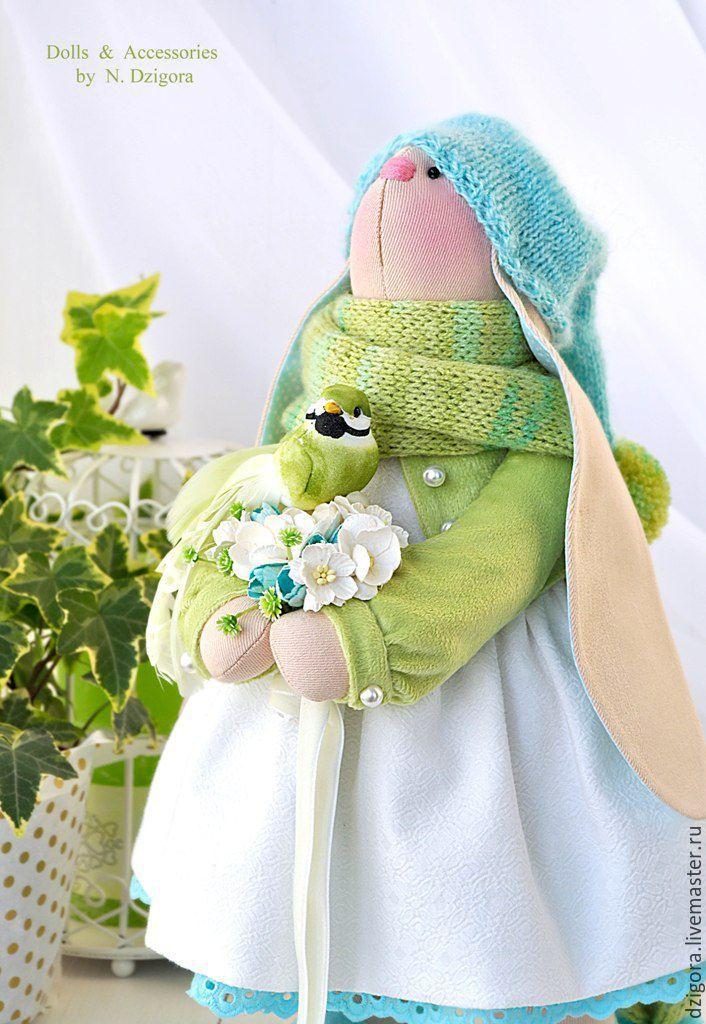 Купить Зайка весенняя Helen / Элен - заяц, зайка, игрушка зайка, игрушка зайчик