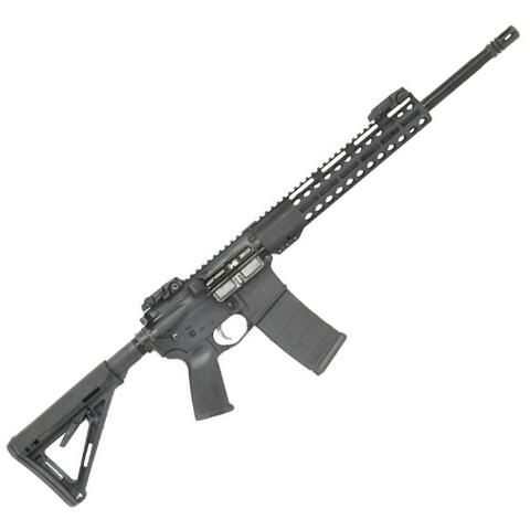 "Palmetto State Armory Freedom AR-15 Semi Auto Rifle 5.56 NATO 16"" Barrel 30 Rounds 11"" M-LOK Handguard MOE Stock Black - 77932932 - 7-G77932932"