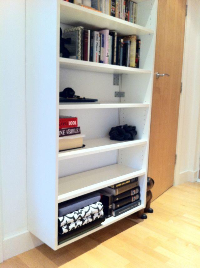 Love the idea of having a floating bookshelf.
