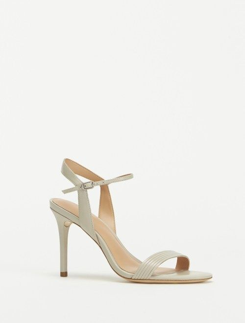 Halston Whitney Leather High Heel Sandal