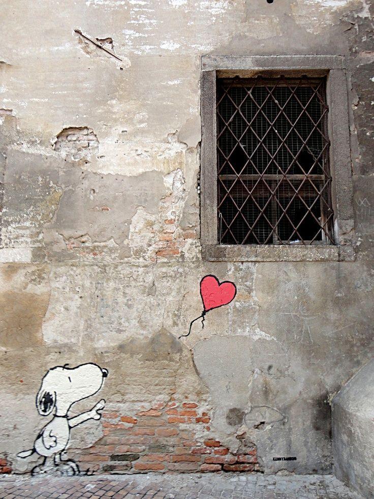 ♥ snoopy ♥ geweldige muurschildering