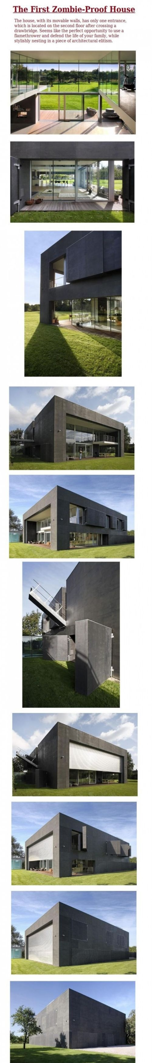 Zombie-Proof House.. I want one!Zombieproof House, Zombies Proof House, Zombies Apocalypse Proof House, Dreams, Walks Dead, Zombie Proof House, First House, Funny, Zombie Apocalypse