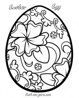 Print out easter egg decorating coloring pages - Printable Coloring Pages For Kids